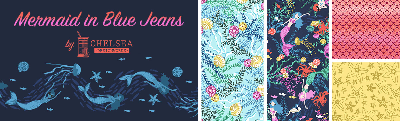Mermaid Blue Jeans